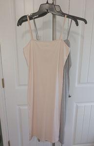 2 Topshop Women Dresses Size 6 Gray & Tan